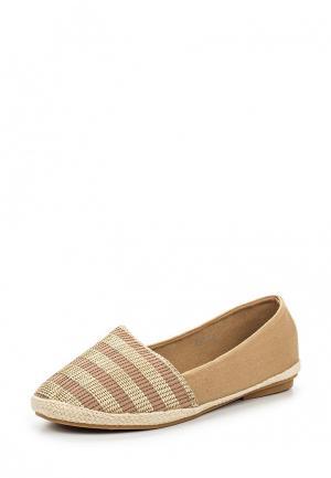 Эспадрильи Style Shoes. Цвет: бежевый