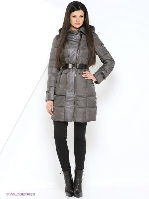 Пальто MOHNASS. Цвет: серый