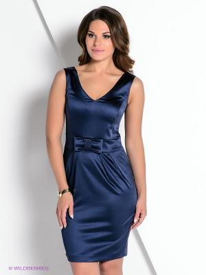 Платье КАЛIНКА. Цвет: темно-синий
