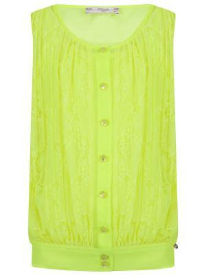 Блуза, Blace, цвет желтый неон (Sunglasses) SUPERTRASH. Цвет: желтый, салатовый