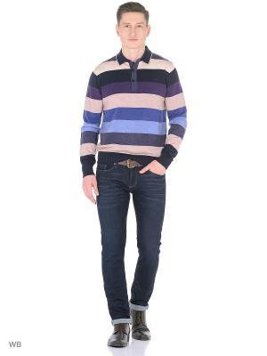 Кофта GALS. Цвет: темно-синий, индиго, голубой, фиолетовый, бежевый