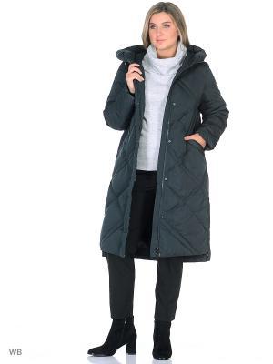 Пальто Romantic Collection.. Цвет: темно-зеленый