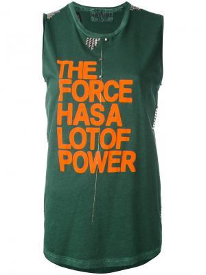 Топ  Force Has a Lot of Power Freecity. Цвет: зелёный