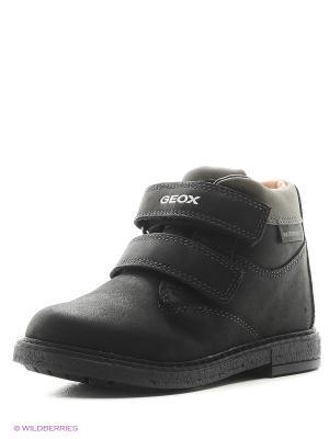 Ботинки GEOX. Цвет: черный, оливковый