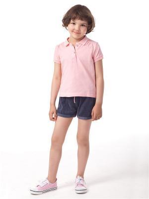 Рубашка-поло Vilatte. Цвет: розовый
