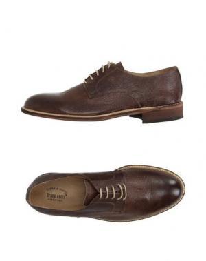Обувь на шнурках BRUNO VERRI. Цвет: какао