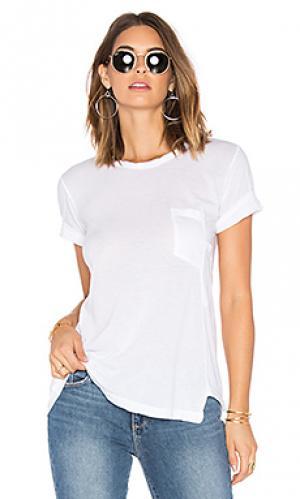 Драпированная футболка с карманом whisper Wilt. Цвет: белый