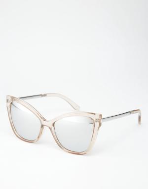 Le Specs Солнцезащитные очки с зеркальными стеклами Naked Eyes. Цвет: stone