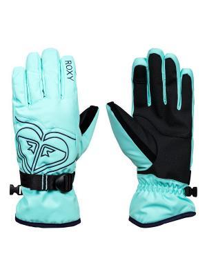 Перчатки ROXY. Цвет: бирюзовый