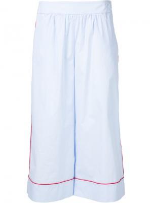 Укороченные широкие брюки Thakoon. Цвет: синий
