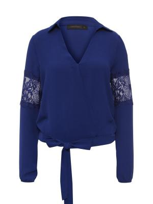 Блузка Joymiss. Цвет: синий