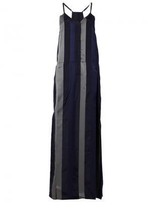 Платье на бретельках Ilaria Nistri. Цвет: чёрный