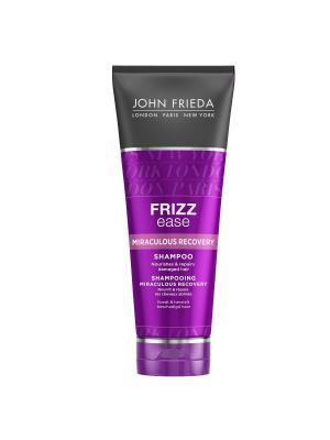 Шампунь для интенсивного укрепления непослушных волос Frizz Ease Miraculous Recovery, 250 мл John Frieda. Цвет: прозрачный