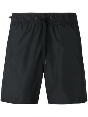 Шорты для плавания на шнурке Z Zegna. Цвет: чёрный