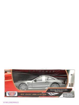 Машинка коллекционная Mercedes Benz SL65 АMG Black Series в масштабе 1к18 Motormax. Цвет: серый