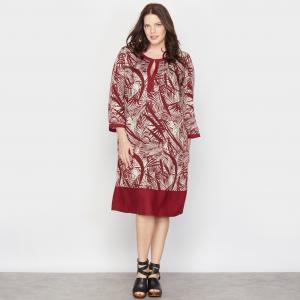 Платье прямое TAILLISSIME. Цвет: рисунок пальмы