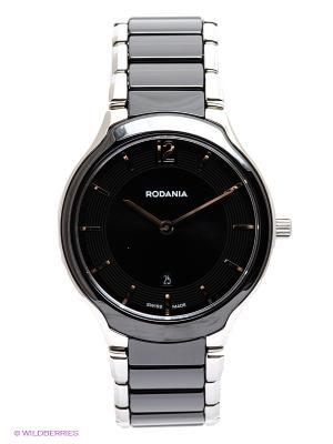 Часы RODANIA. Цвет: черный, серебристый