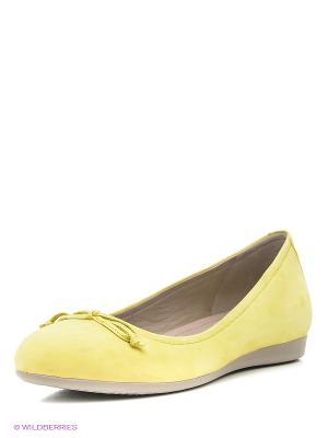 Балетки ECCO. Цвет: желтый