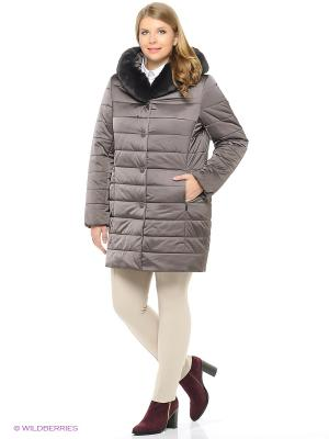 Утепленное пальто MONTSERRAT. Цвет: лиловый