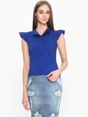 Блузка PAOLA MORENA. Цвет: синий