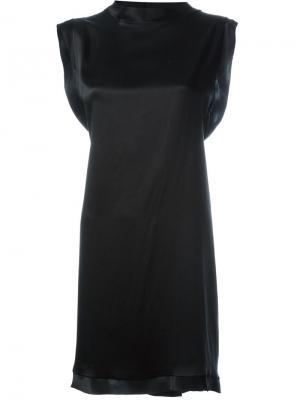 Платье с открытой спинкой Aries. Цвет: чёрный