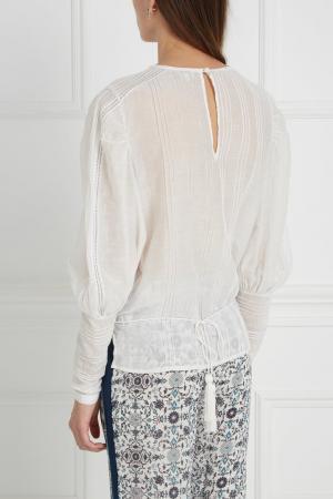 Блузка из шелка и хлопка Talitha. Цвет: белый