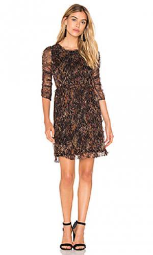 Платье со сборками IKKS Paris. Цвет: черный