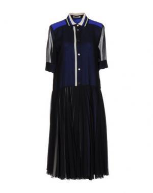 Платье до колена BOUCHRA JARRAR. Цвет: темно-синий