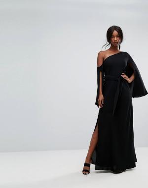 C/meo Collective Платье макси на одно плечо Beyond Me. Цвет: черный