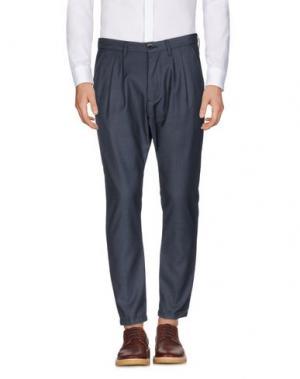 Повседневные брюки QUINTESSENCE. Цвет: грифельно-синий