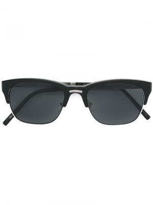 Солнцезащитные очки в квадратной оправе Matsuda. Цвет: чёрный