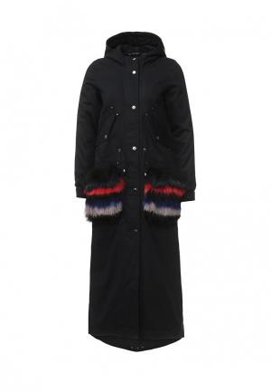 Куртка утепленная V&Florence. Цвет: синий