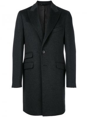 Классическое пальто с карманами спереди Hevo. Цвет: серый