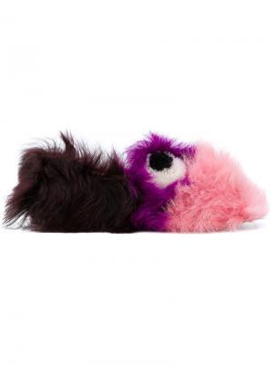 Слипперы Eyes Anya Hindmarch. Цвет: розовый и фиолетовый