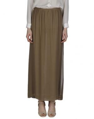 Длинная юбка ZHELDA. Цвет: хаки
