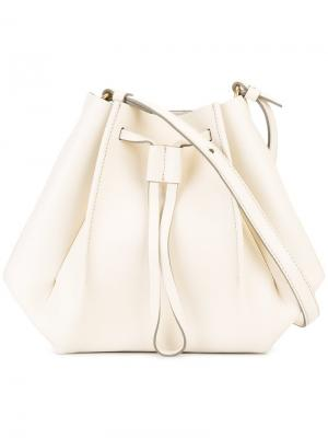 Структурированная сумка-мешок Maison Margiela. Цвет: телесный