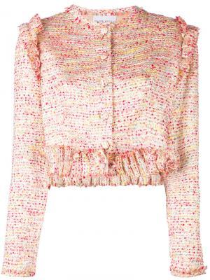 Фактурная куртка Daizy Shely. Цвет: многоцветный