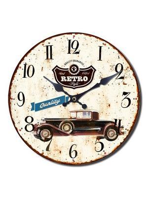 Часы настенные Mitya Veselkov. Цвет: кремовый, бледно-розовый, персиковый