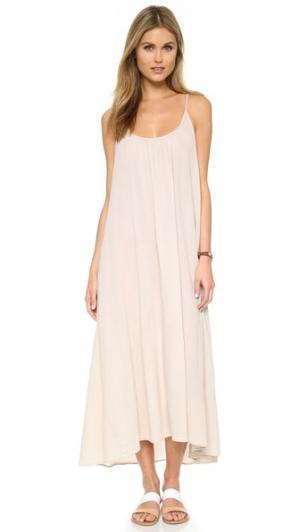 Пляжное платье Tulum 9seed. Цвет: коричневый