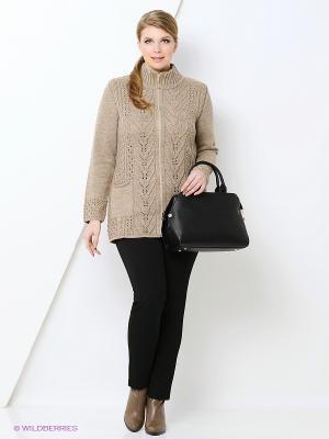 Кофта Milana Style. Цвет: коричневый