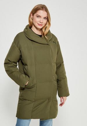 Куртка утепленная PUMA. Цвет: хаки