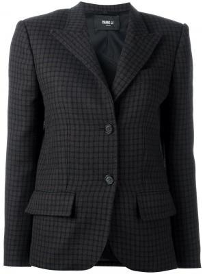 Пиджак в клетку Yang Li. Цвет: коричневый