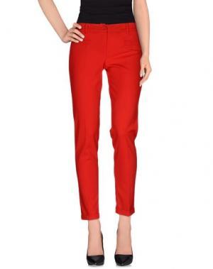 Повседневные брюки POIS. Цвет: красный