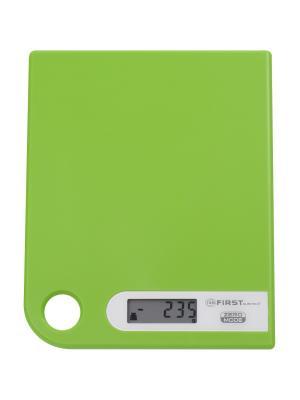 Весы кухонные FIRST. Цвет: зеленый