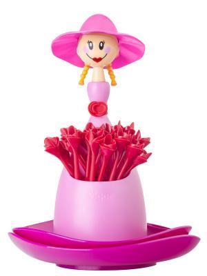 Палочки для канапе VIGAR. Цвет: розовый