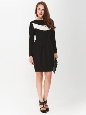 Платье La vida rica. Цвет: черный, молочный