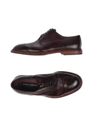 Обувь на шнурках DOLCE & GABBANA. Цвет: баклажанный