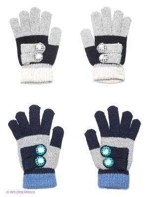 Перчатки, 2 пары FOMAS. Цвет: серый, черный