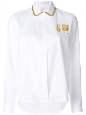 Рубашка с вышивкой Spongebob Peter Jensen. Цвет: белый