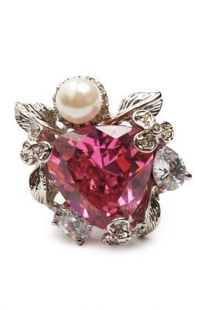 Кольцо Розовый кварц Beatrici Lux. Цвет: розовый, белый, серебристый